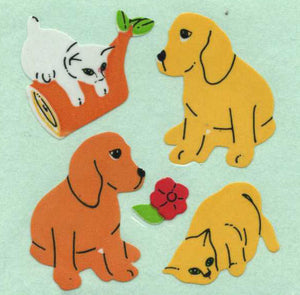 Pack of Paper Stickers - Puppies & Kittens