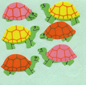 Pack of Paper Stickers - Multicoloured Tortoises
