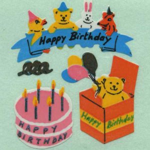 Pack of Paper Stickers - Birthday Cake