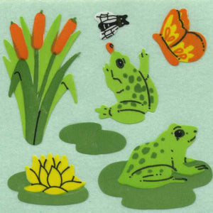 Pack of Paper Stickers - Frogs on Lily Pads