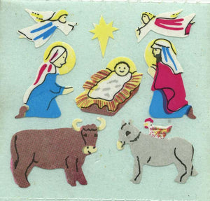 Pack of Paper Stickers - Nativity Scene