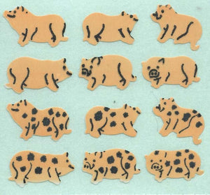 Pack of Paper Stickers - Micro Pigs