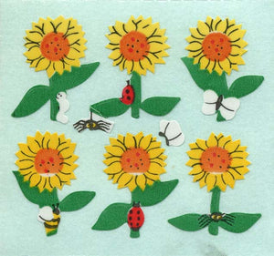 Pack of Paper Stickers - Sunflowers