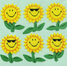 Load image into Gallery viewer, Pack of Paper Stickers - Smiley Sunflowers