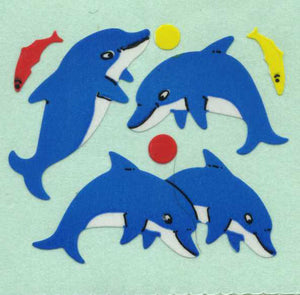 Pack of Paper Stickers - Dolphin & Fish