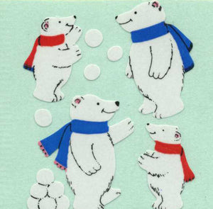 Pack of Paper Stickers - Polar Bear