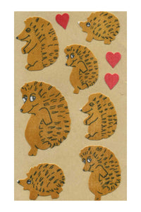 Maxi Furrie Stickers - Hedgehog