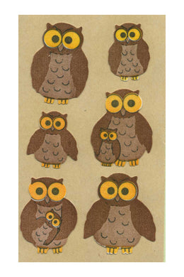 Maxi Furrie Stickers - Owls