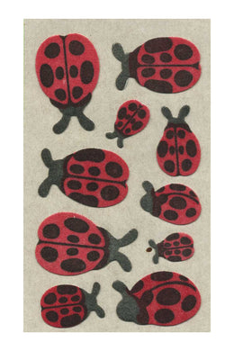 Maxi Furrie Stickers - Ladybirds