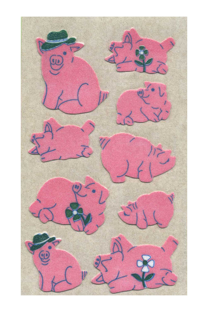 Maxi Furrie Stickers - Pigs