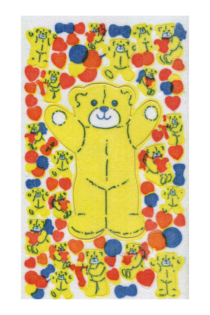 Maxi Furrie Stickers - Teddies with Hearts