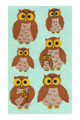 Maxi Paper Stickers - Owls