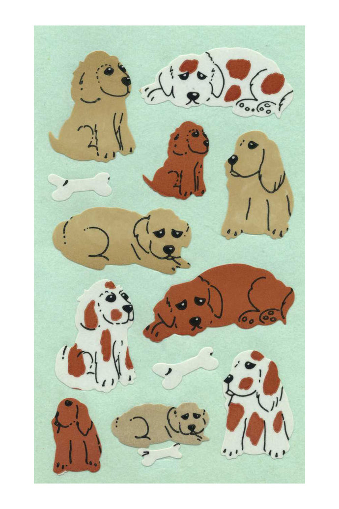 Maxi Paper Stickers - Puppies