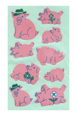 Maxi Paper Stickers - Pigs