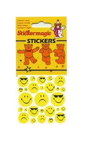 Maxi Paper Stickers - Smiley Expressions