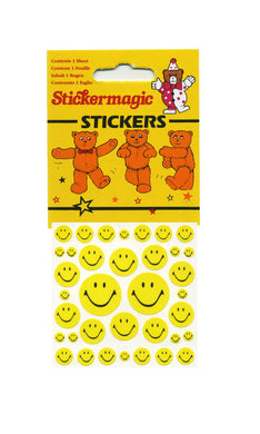 Maxi Paper Stickers - Smiley Faces