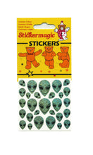 Load image into Gallery viewer, Maxi Prismatic Stickers - Smiley Aliens