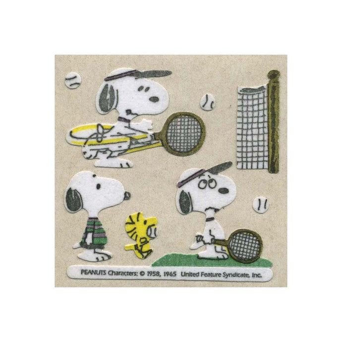 Maxi Furrie Stickers - Snoopy playing Tennis