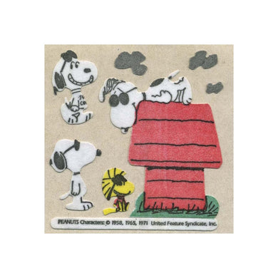 Maxi Furrie Stickers - Joe Cool Snoopy