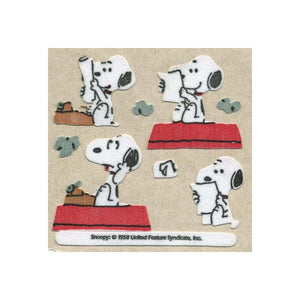 Maxi Furrie Stickers - Snoopy & Typewriter