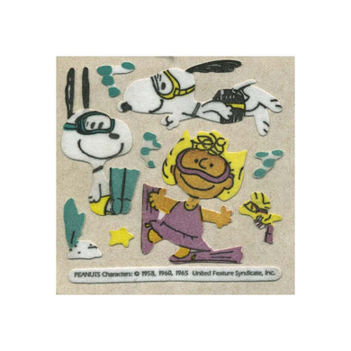 Maxi Furrie Stickers - Snoopy & Sally Diving