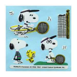 Maxi Stickers - Snoopy playing Tennis