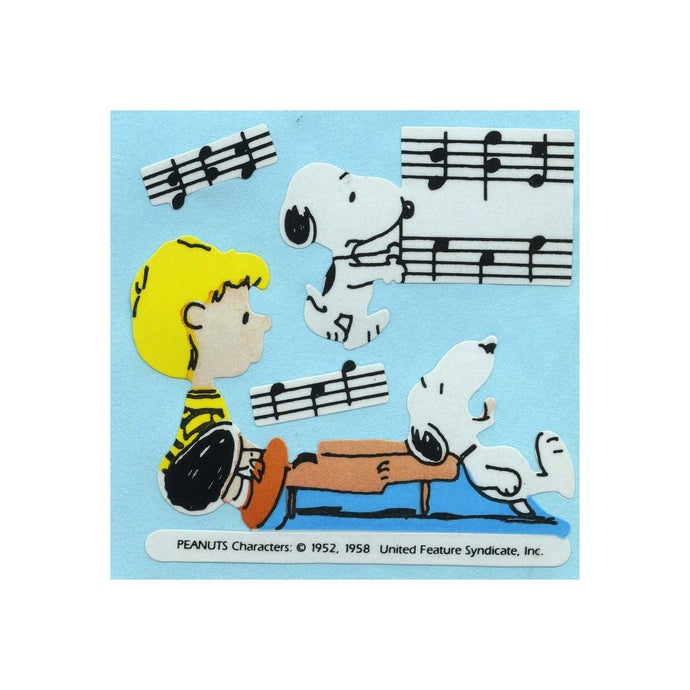 Maxi Paper Stickers - Snoopy & Schroeder with Piano