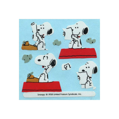 Maxi Paper Stickers - Snoopy & Typewriter