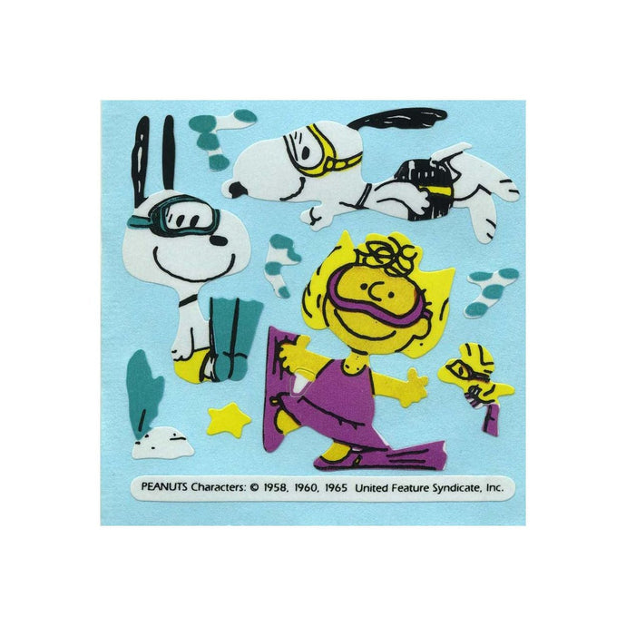 Maxi Paper Stickers - Snoopy & Sally Diving