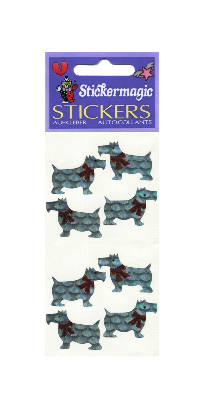 Pack of Prismatic Stickers - White Scotties