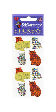 Pack of Prismatic Stickers - Cute Cats