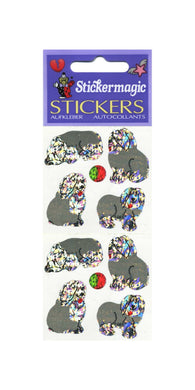 Pack of Prismatic Stickers - Sheepdog Puppies