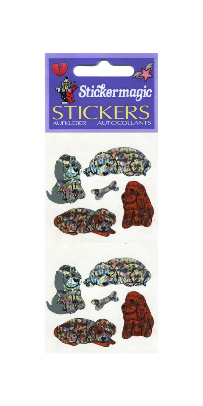 Pack of Prismatic Stickers - Puppies & Bones