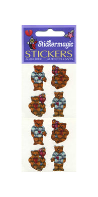Pack of Prismatic Stickers - Teddies In T-Shirts