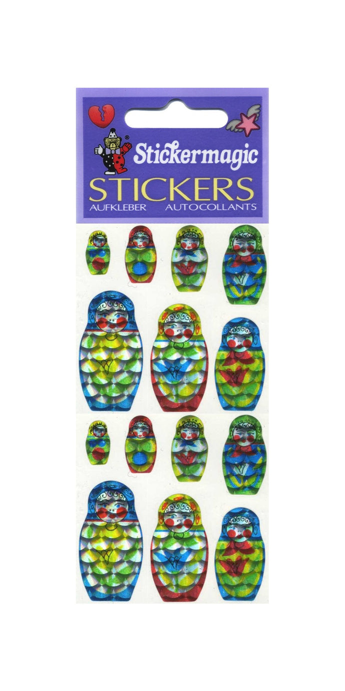 Pack of Prismatic Stickers - Russian Dolls