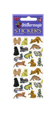 Pack of Prismatic Stickers - Micro Cats