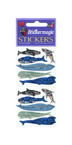 Pack of Prismatic Stickers - Micro Whales