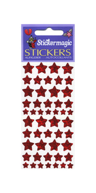 Pack of Prismatic Stickers - Red Star