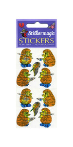 Pack of Prismatic Stickers - Fishing Hedgehogs