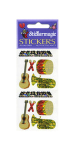 Pack of Prismatic Stickers - Musical Instruments