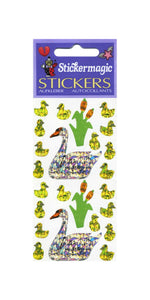 Pack of Prismatic Stickers - Swans And Cygnets