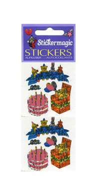 Pack of Prismatic Stickers - Birthday Cake