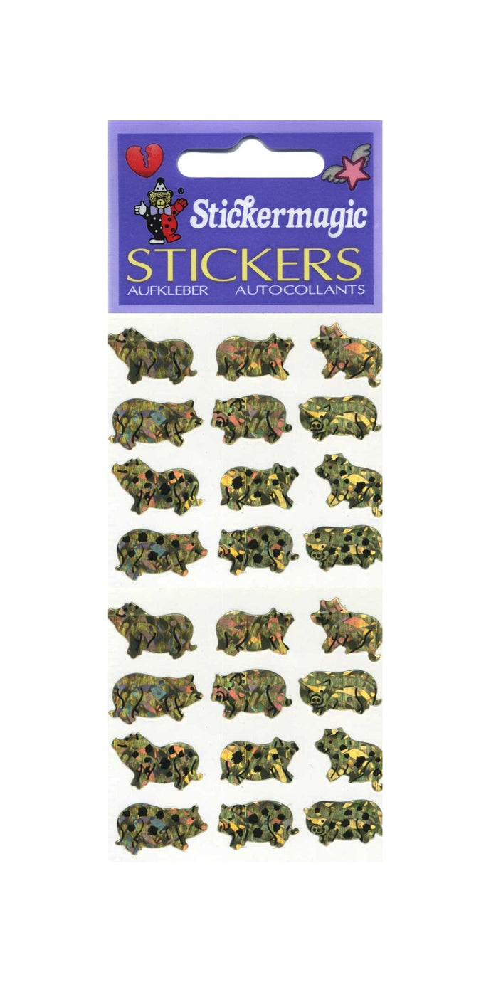 Pack of Prismatic Stickers - Micro Pigs