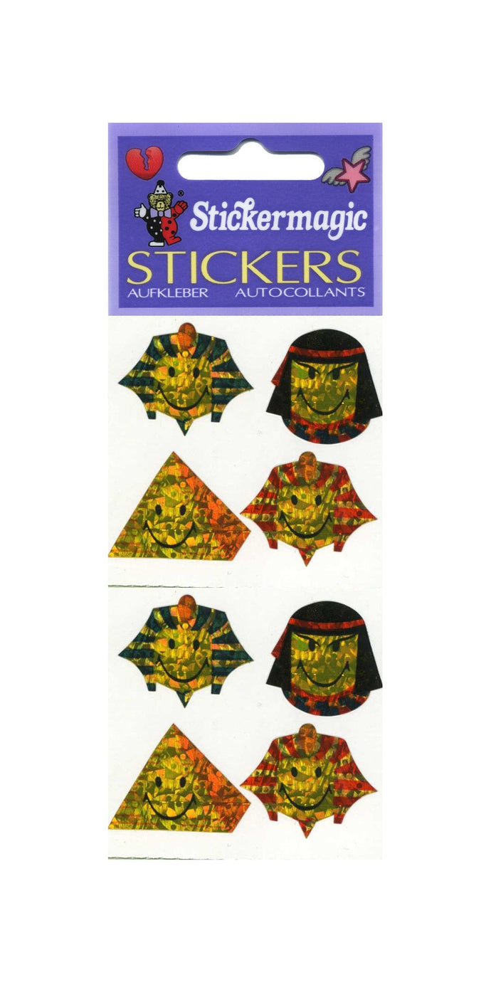 Pack of Prismatic Stickers - Egyptian Smiley Faces