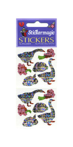 Pack of Prismatic Stickers - Geese & Bunny