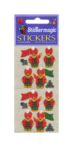 Pack of Furrie Stickers - Soldier Teddies