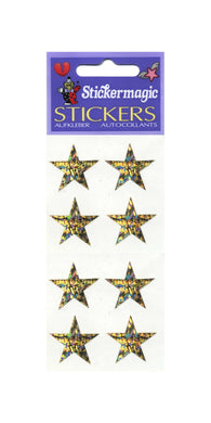 Pack of Prismatic Stickers - 4 Gold Stars