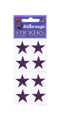 Pack of Prismatic Stickers - 4 Purple Stars