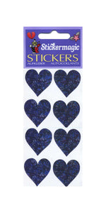 Pack of Prismatic Stickers - 4 Lilac Hearts