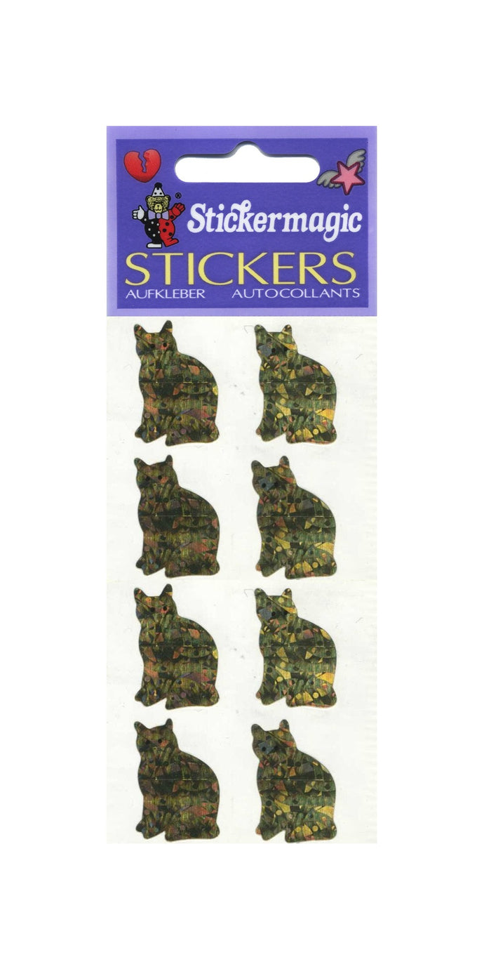 Pack of Prismatic Stickers - 4 Gold Cats